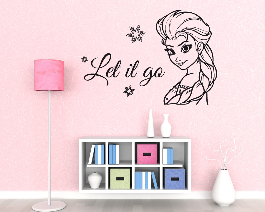 Let It Go Wall Sticker Frozen